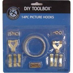 Picture Hooks 14pc w/wire/eye 24/144