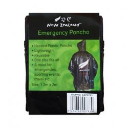 Emergency Poncho Silver Fern Black 12/288