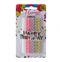 Candle Slim Spiral  10cm 30pc
