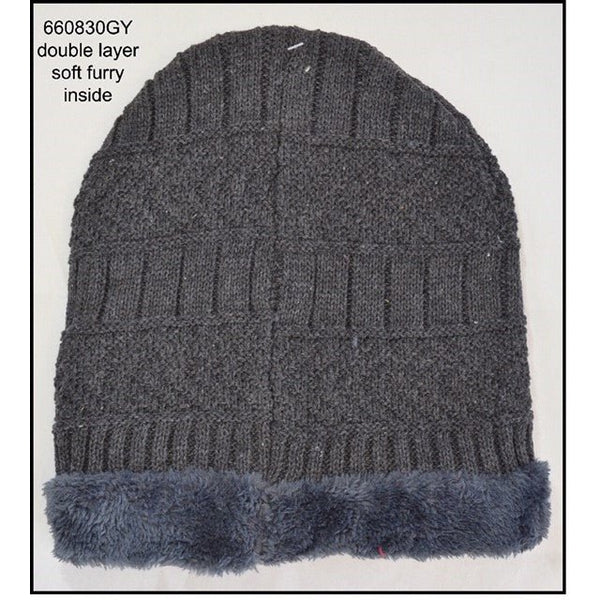 Beanie - Grey Double Layer