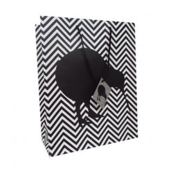 Gift Bag Large Kiwi Chevron 26x33cm 12/144