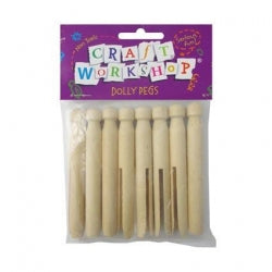 Pegs Natural Dolly 8pc 12/144