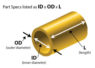 Cast Bronze Bearing - Spec Diagram