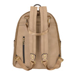 Vegan Leather Diaper Backpack Mocha