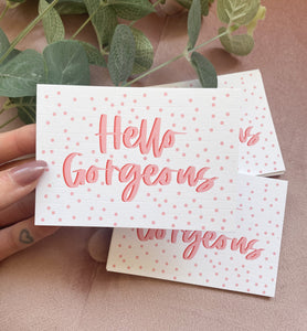 A7 Hello Gorgeous Inserts