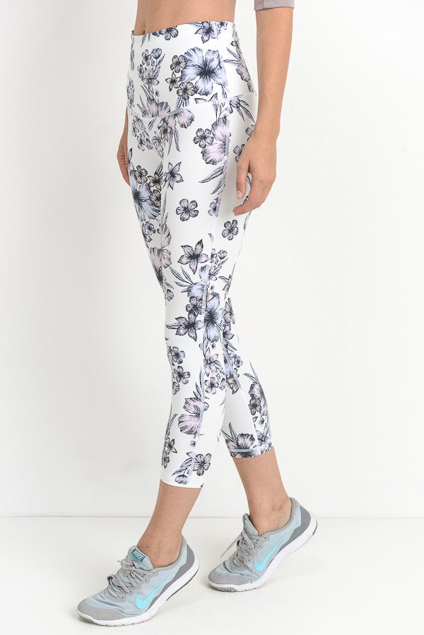 Hibiscus Capri Leggings