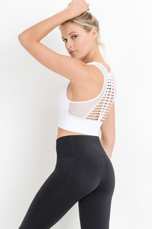 Lattice & Laser Sports Bra