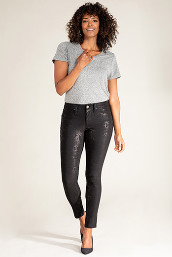 Snakeskin Hyperstretch Skinnies