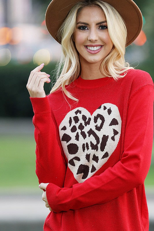 Cupid's Leopard Sweater