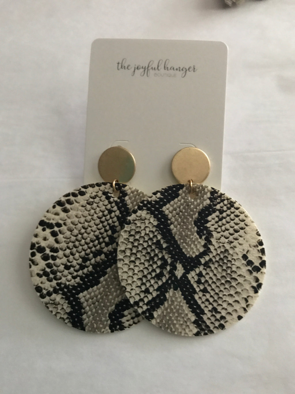 Snakeskin Dangle Earrings