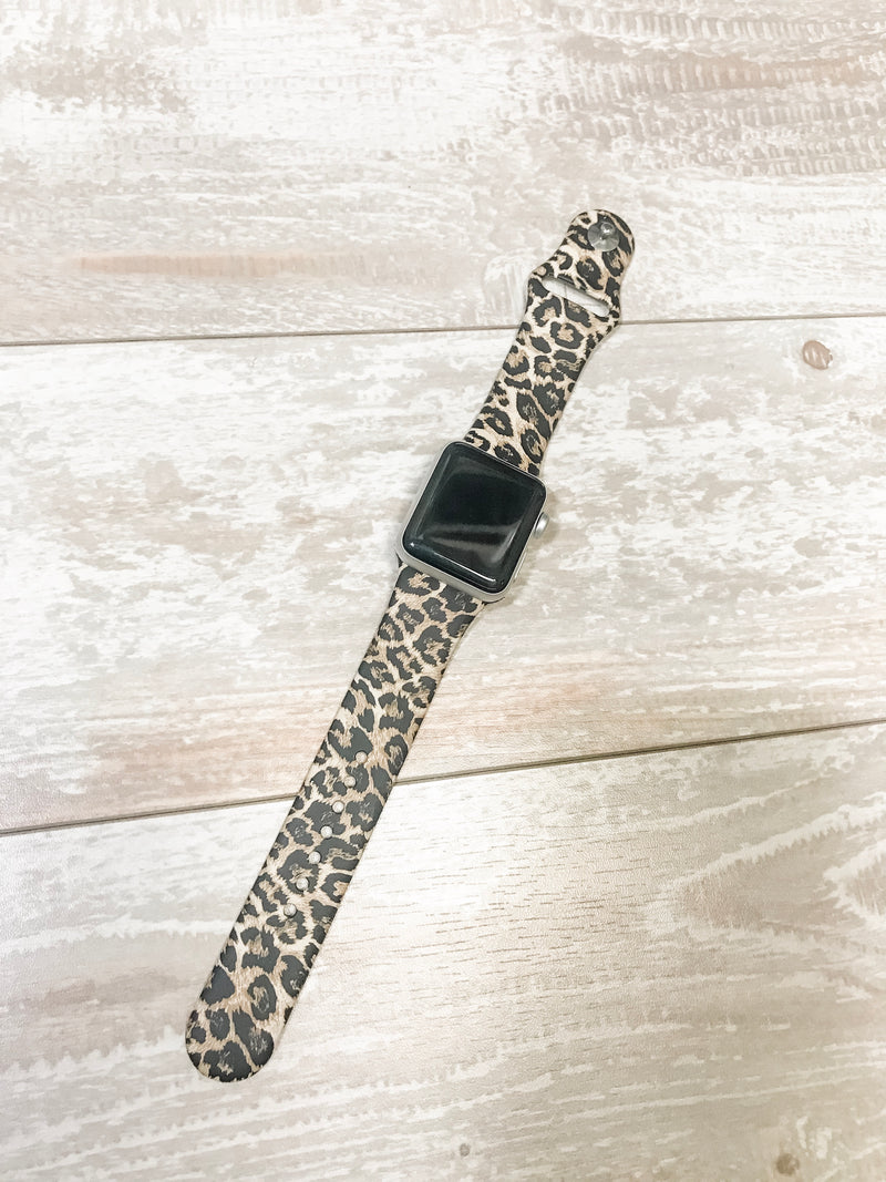 Printed Leopard Watch Band