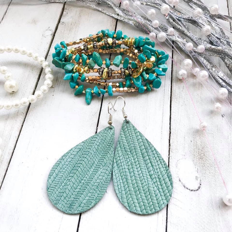 Sage Teardrop Earrings