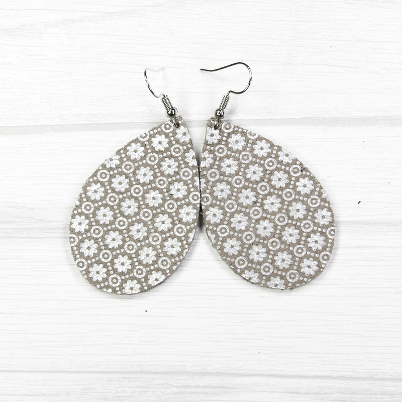 Grey & Silver Filigree Earrings