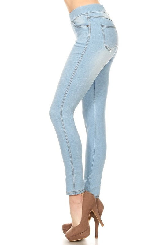 Medium Wash Jeggings