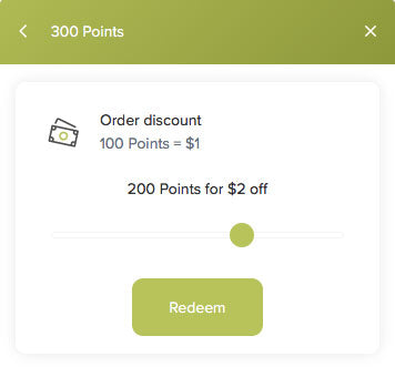 image of redeem select button