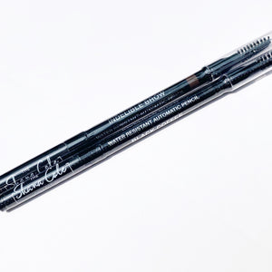 WATER RESISTANT BROW PENCIL/BRUSH DUO