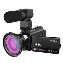 Load image into Gallery viewer, Andoer 4K 1080P 48MP WiFi Digital Video Camera