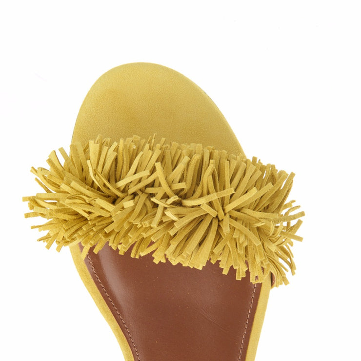 Summer Candy Yellow Woman Flat Shoes