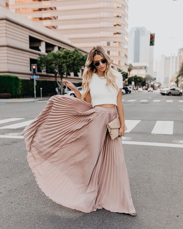 Boho Pleated Skirt