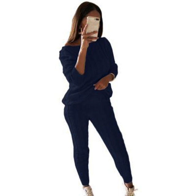 Comfy Lounge wear knit track suits