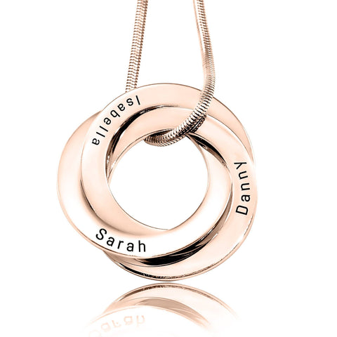 Interlink Russian ring neckace Personalized Belle Fever 4