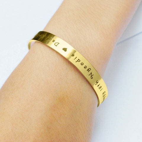 8mm Open Cuff Endless Bangle Personalized Belle Fever 5