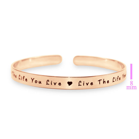 8mm Open Cuff Endless Bangle Personalized Belle Fever 6