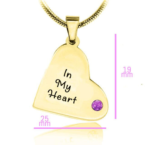 ADDITIONAL Childrens Heart Birthstone Necklace Gold Belle Fever 6