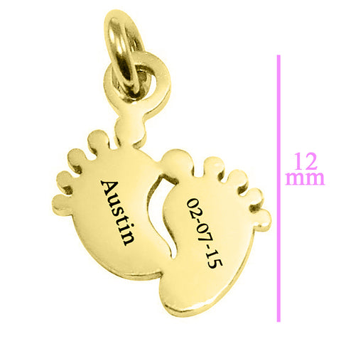 ADDITIONAL Feet 12mm for Cant Be Replaced Necklace Rose Gold Personalized Belle Fever 5