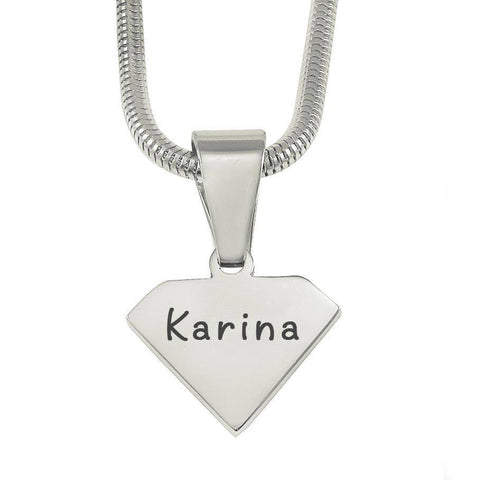 ADDITIONAL Superman Cut Out Necklace Silver Personalized Belle Fever 2