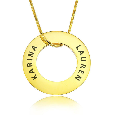 Always Forever Washer Necklace Gold Personalized Belle Fever 3