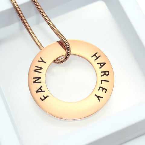 Always Forever Washer Necklace Personalized Belle Fever 1