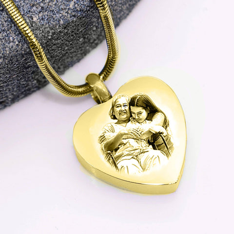 Heart Photo Canister Gold Personalized Belle Fever 5