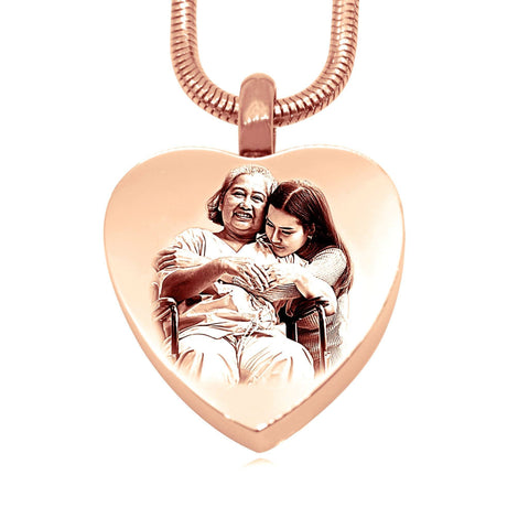 Heart Photo Canister Rose Gold Personalized Belle Fever 4