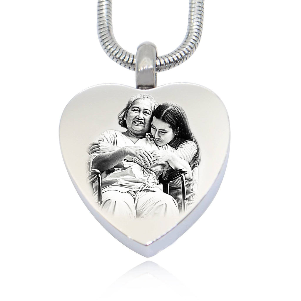 Heart Photo Canister Silver Personalized Belle Fever 2