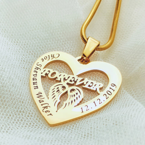 Angel in My Heart Necklace