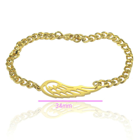 Angels Wing Bracelet - Gold Belle Fever 6
