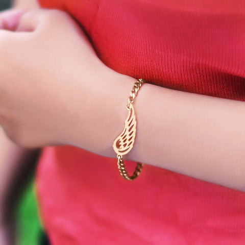 Angels Wing Bracelet - Rose Gold Belle Fever 5