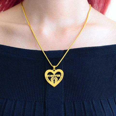 Angel in My Heart Necklace Personalized Belle Fever 5