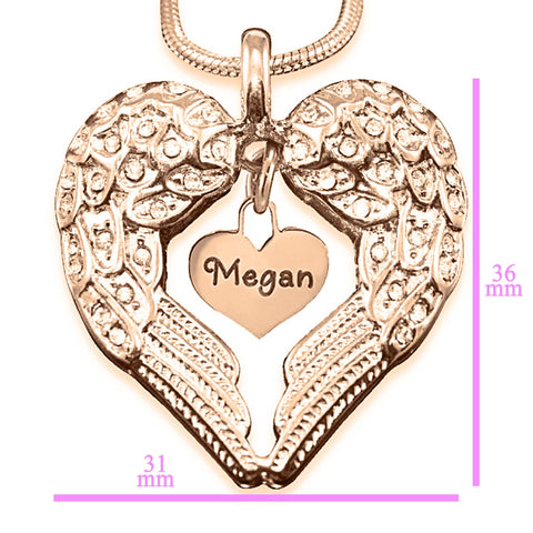 Angels Heart Necklace with Heart Insert Personalized Belle Fever 6