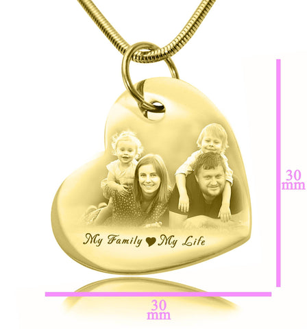 Bottom of My Heart Photo Necklace Gold Personalized Belle Fever 6
