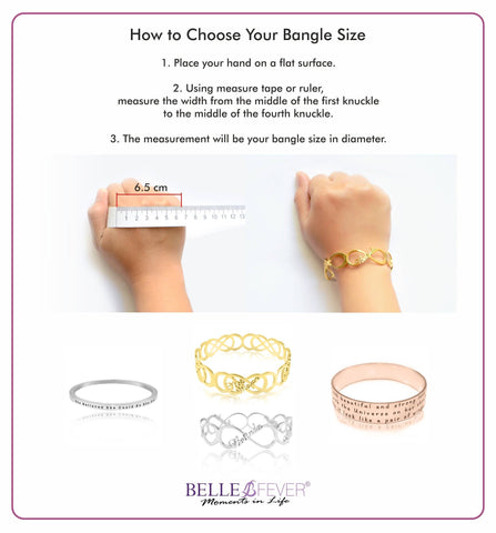 Belle Fever Bangle Measurment Guide