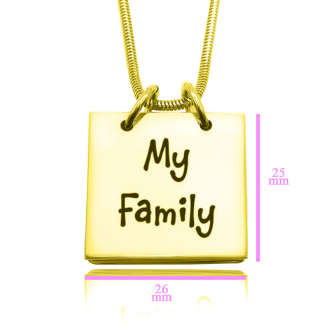 Personalized Belle Family Book Necklace Rose Gold Belle Fever 6