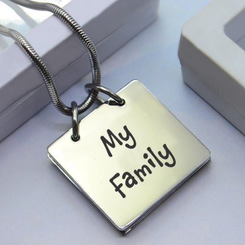 Personalized Belle Family Book Necklace Silver Belle Fever 1