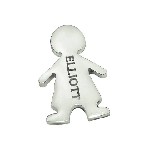 Boy Charm for Dream Locket - Silver Personalized Belle Fever 2