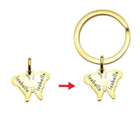 Butterfly Charms for Keyring  Gold Personalized Belle Fever 6