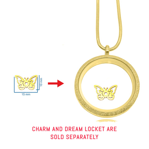 Butterfly Charm For Dream Locket - Gold Belle Fever 2