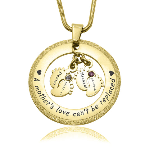 Sparkling Cant Be Replaced Birthstones Necklace - Double Feet