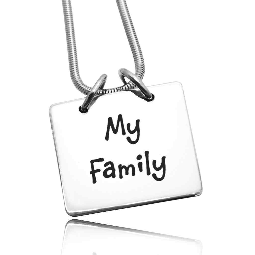Belle Family Book Necklace