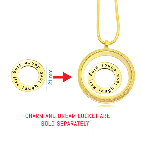 Circle of Trust Charm For 30mm Medium Dream Locket Personalized Belle Fever 2